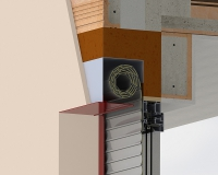 Venkovní rolety: Detail roletové schránky do Rono, Vario, Ytong